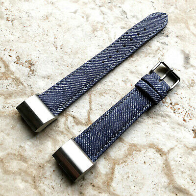 AU45.99 • Buy JDB-CH2 Soft Leather Jeans Band Strap With Adapters For Fitbit Charge 2