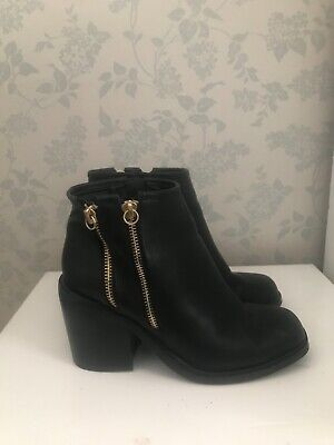 £14 • Buy London Rebel Healed Black Boots Size 4. Used Once In Good Condition.
