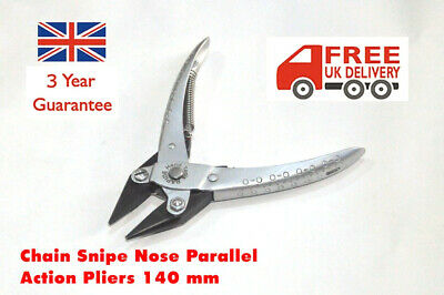 Chain Snipe Nose Parallel Action Pliers Jewlery Watch Beads Tool Smooth Jaws  • 13.85£