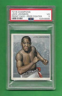 $223 • Buy 1910 Champions T218 Boxing Card Prize Fight Jack Johnson Front Face * PSA VG 3 *