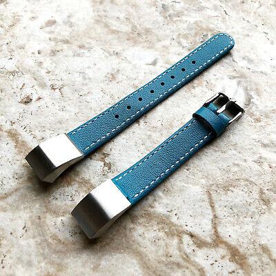 AU50.35 • Buy Blue Stylish Unisex Soft Leather Band Strap With Stitches For Fitbit Alta HR