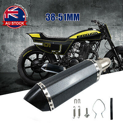 AU50.99 • Buy Universal Motorcycle Exhaust Muffler Pipe Removable DB Killer Slip On 38-51mm O