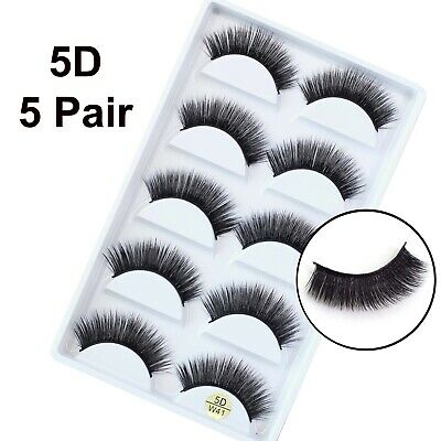 5 Pairs False Eyelashes Long Thick Natural Fake Eye Lashes Set Mink Makeup (W41) • 3.99£