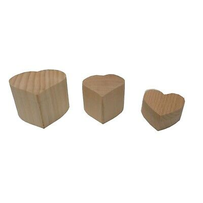 Solid Heart Shaped Wooden Ring Box Engagement Wedding Ring Wee Box Heart Shape  • 7.99£