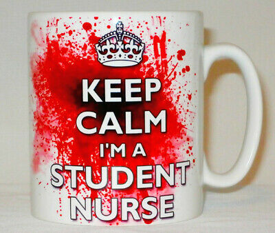 Keep Calm I'm A Student Nurse Blood Splatter Mug Can Personalise Fun Bloody Gift • 8.99£