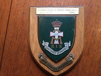 Green Howards Regimental Mess Wall Plaque Shield • 17.99£