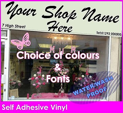 Front Shop Sign Writing 2500mm X 600mm Self Adhesive Vinyl Lettering Graphics  • 59.99£