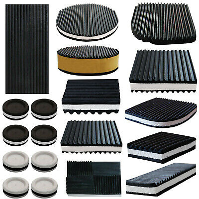 Anti Vibration Mat Feet Ribbed Rubber Pads Reducing Noise & Sound Deadening  • 5.99£
