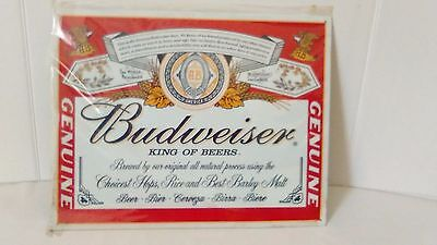 $ CDN29.11 • Buy Budweiser Beer Metal Sign (2001)