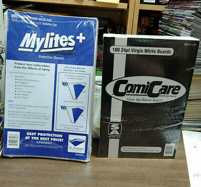 $35 • Buy Mylites+ Standard & Silver Comic Backing Boards (100 Pack Each) 7-1/4  X 10-1/2