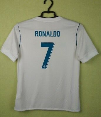 9a9538270e6 Cristiano Ronaldo Jersey Kids Real Madrid 2017 Home Adidas Youth 11-12  Years/152