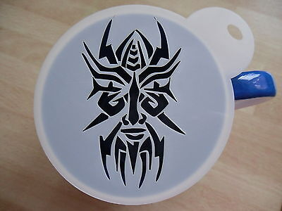 Laser Cut Tribal Mask Design Coffee And Craft Stencil • 4£