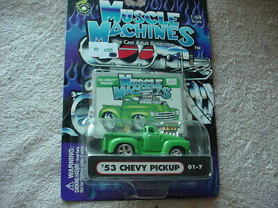 AU15.24 • Buy Muscle Machines '53 Chevy Pickup 01-7 Green Mip Free Usa Shipping