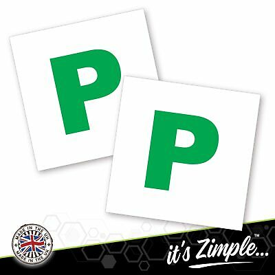 2x New Driver P Plate Stickers Safety Car Learner Just Passed Vinyl Legal Signs • 1.79£