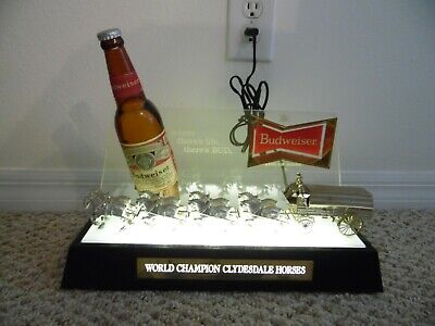 $ CDN156.92 • Buy Budweiser Beer 3-D Early 60's Clydesdale Lighted Bar Back Light Works
