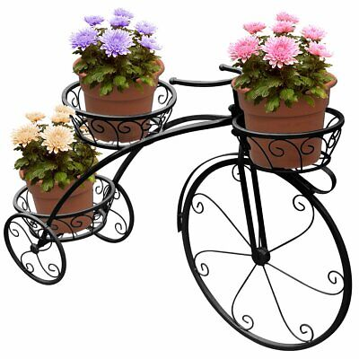Tricycle Plant Stand - Flower Pot Cart Holder - Ideal For Home, Garden, Patio  • 59.99$