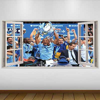 EXTRA LARGE Manchester City Celebrate Football Vinyl Wall Sticker Poster • 24.99£