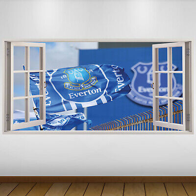 EXTRA LARGE Everton Flag Football Vinyl Wall Sticker Poster • 24.99£