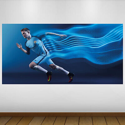 EXTRA LARGE Manchester City Player Football Vinyl Wall Sticker Poster • 24.99£