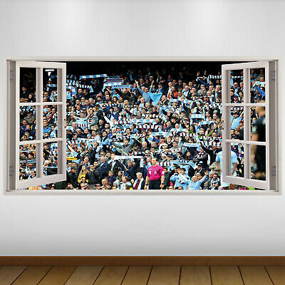 EXTRA LARGE Manchester City Fans Football Vinyl Wall Sticker Poster • 24.99£