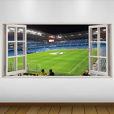 EXTRA LARGE Manchester City Pitch Football Vinyl Wall Sticker Poster • 24.99£