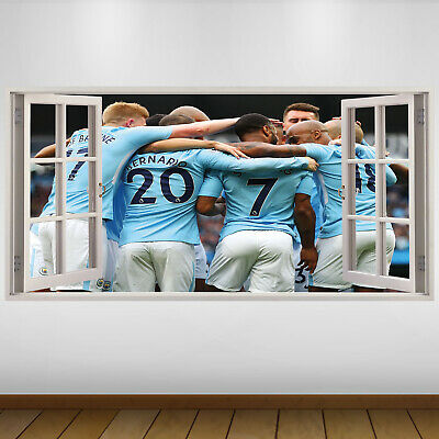 EXTRA LARGE Manchester City Players Football Vinyl Wall Sticker Poster • 24.99£