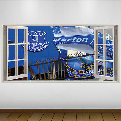 EXTRA LARGE Everton Flags Logo Football Vinyl Wall Sticker Poster • 24.99£