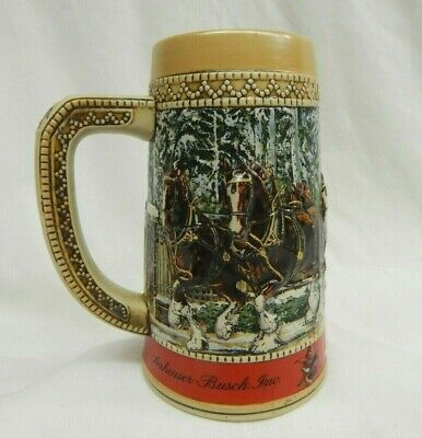 $ CDN15.67 • Buy Budweiser Anheuser Busch 1987 C Series Beer Stein Clydesdales Collector Edition