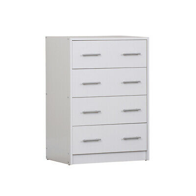 AU128.50 • Buy 4 Chest Of Drawers Table Cabinet Bedroom Storage White Dresser Tallboy