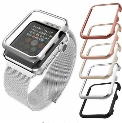 AU9.99 • Buy Stainless Steel Watch Case For Apple Watch Band 40mm 44mm 38mm/42mm Iwatch