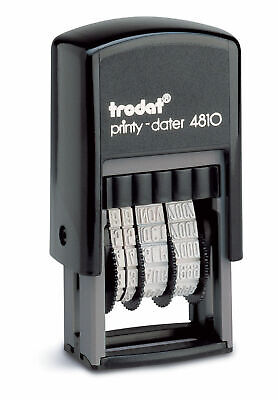 £5.80 • Buy Date Stamp - Self Inking Rubber Stamp - Mini Dater 4810 Trodat 70169 Free P&P