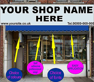 2750 X 550mm Front Shop Sign Writing Large Custom Signage Vinyl Stickers  Signs  • 71.99£