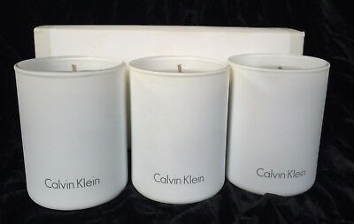 £27.68 • Buy Scented 3 Calvin Klein Candles Lush Vetiver-Grapefruit Rhubarb Lavender Musks