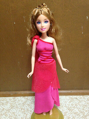 £21.73 • Buy 2008 Barbie Diamond Castle Princess Muse Doll Melody Blonde In Red Pink Dress