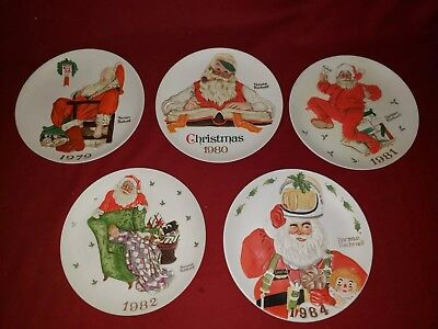 $ CDN24.20 • Buy Norman Rockwell Limited Edition Christmas Plates Yrs-1979, 80, 81, 82, 84