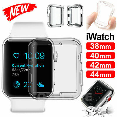 AU4.95 • Buy For  IWatch Series Silicone TPU Bumper Case Cover IWatch 38/42/40/44mm