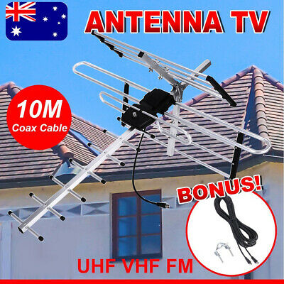 AU30.85 • Buy Digital Outdoor TV Antenna VHF UHF FM Signal Aerial Outdoor Amplifier Booster AU