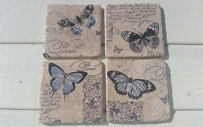 French Inspired Butterfly Stone Coasters  • 12.99£