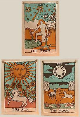 Tarot Tapestry Wall Hanging Magical Moon Sun Large Tapestries Cover Pack Of 3 • 11.99£