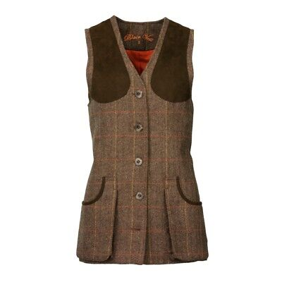 Ladies Laksen Blair Tweed Shooting Vest/Waistcoat Size 12  • 259£