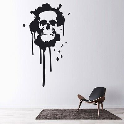 Scary Skull Halloween Wall Sticker WS-32581 • 16.97£