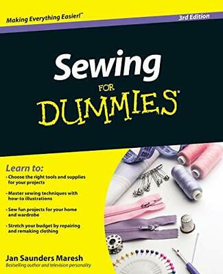Sewing For Dummies By Jan Saunders Maresh New Paperback / Softback Book • 13.74£