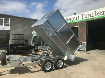 AU8145 • Buy 9x5 Tandem Tipper Trailer Galvanised Hydraulic 3500kg ATM