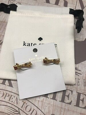 $ CDN44.23 • Buy Authentic KATE SPADE EARRINGS Love Notes Gold Bow Studs GOLD With Dust Bag