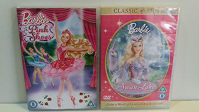 Barbie DVD's - Swan Lake & The Pink Shoes, Both Region 2  • 3.95£