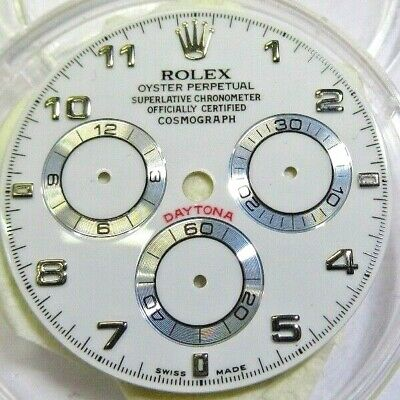 $ CDN1189.31 • Buy 100% Original Rolex Daytona 40mm White Arabic Dial For 116509, 116519, 116520