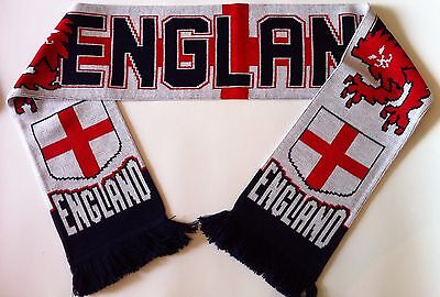 ENGLAND Football Scarve NEW From Superior Acrylic Yarns • 6.95£