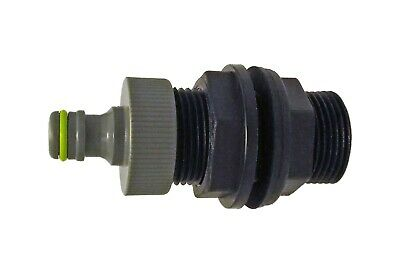 1/2  Bspm Water Butt/ibc Threaded  Connector With Click-lock  For Garden Hose • 8.40£