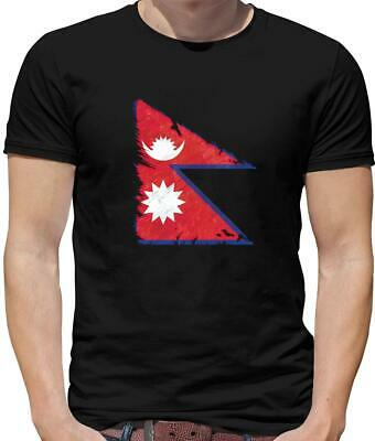 Nepal Flag Mens T-Shirt - Kathmandu - Nepalese - Flags - Country - Asia • 12.95£