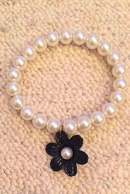 Miss Selfridge Pearl Flower Hippie Indie Bracelet Worn Once • 2.99£